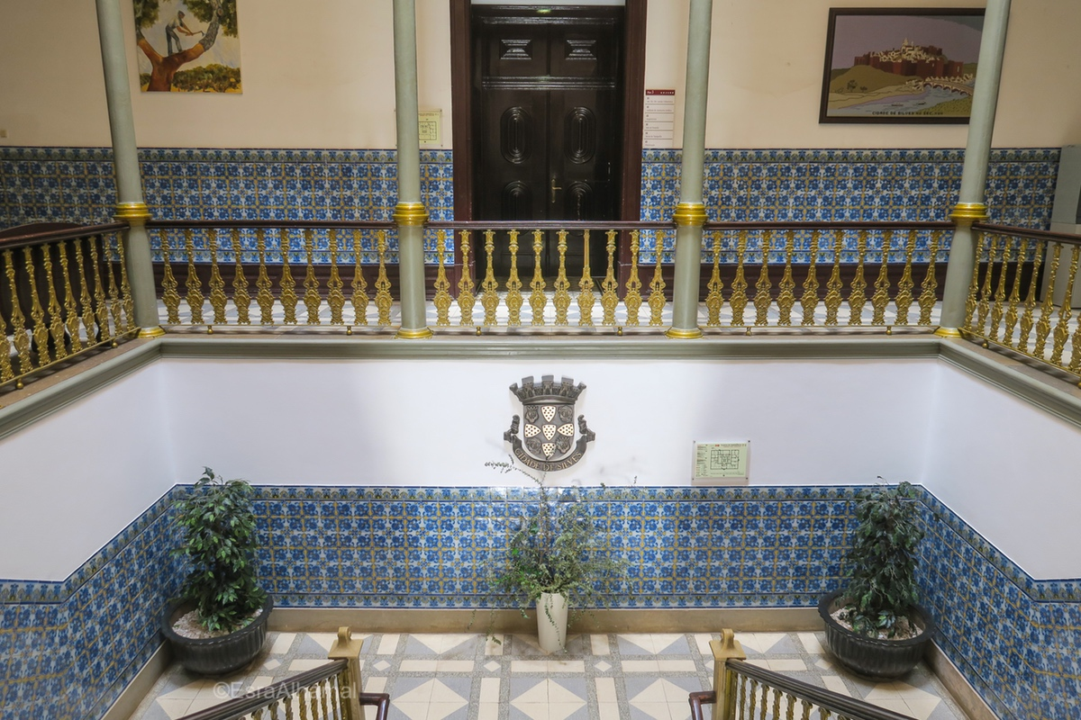 Tiles inside Silves Town Hall, Algarve, Portugal
