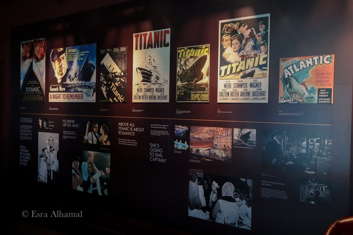 Posters about the movies made about the Titanic