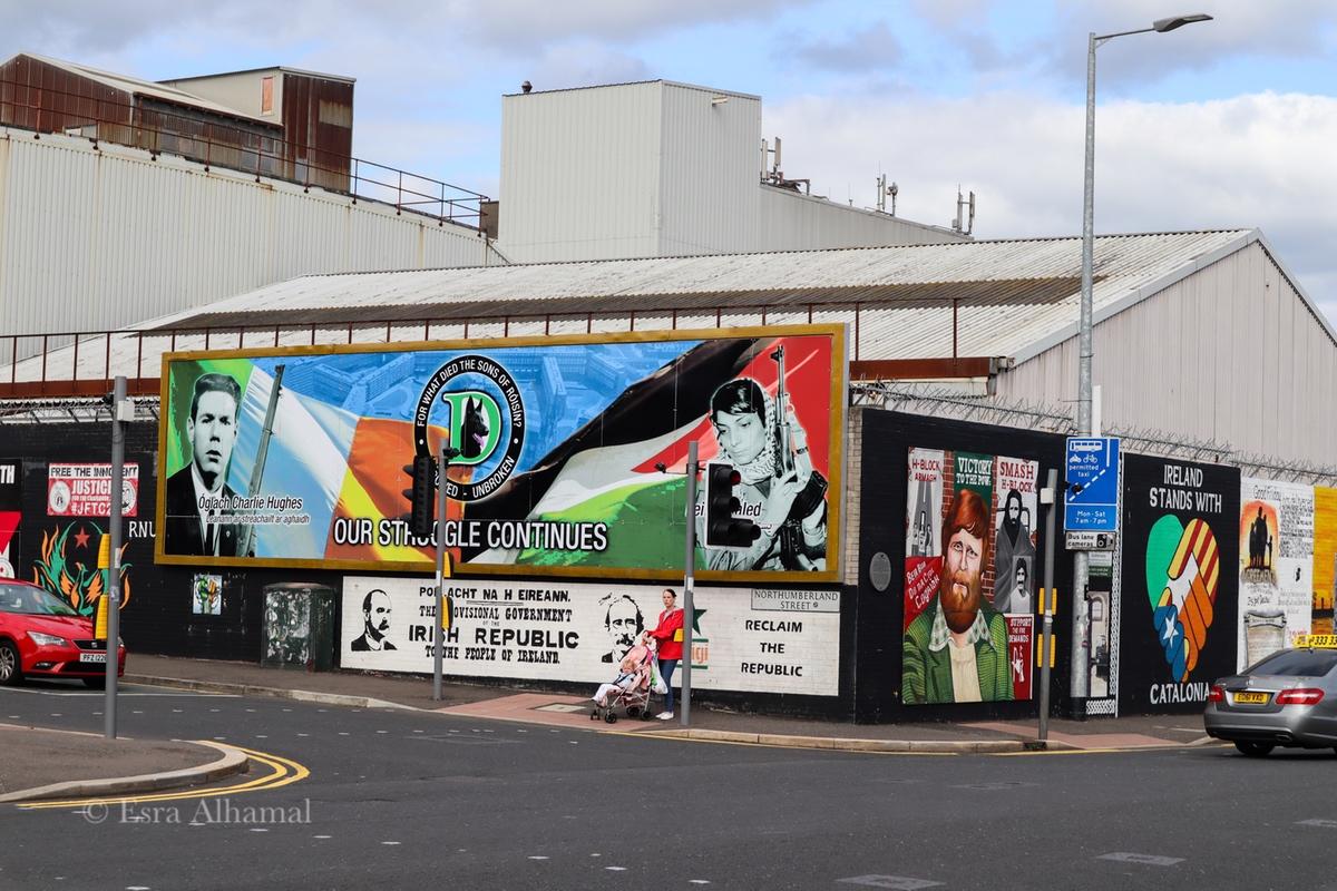Grafitti for Palestine in West Belfast