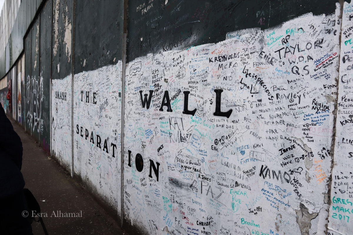 Separation wall of Belfast