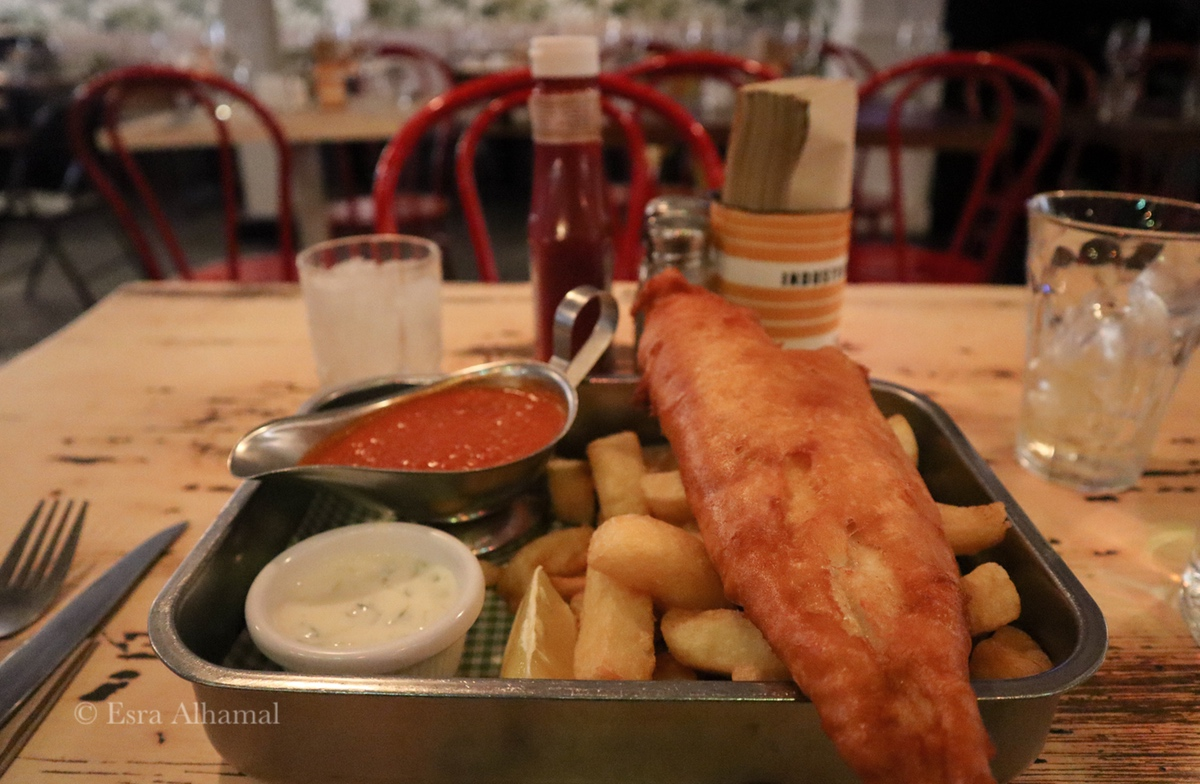 Amazing fish and chips in Belfast