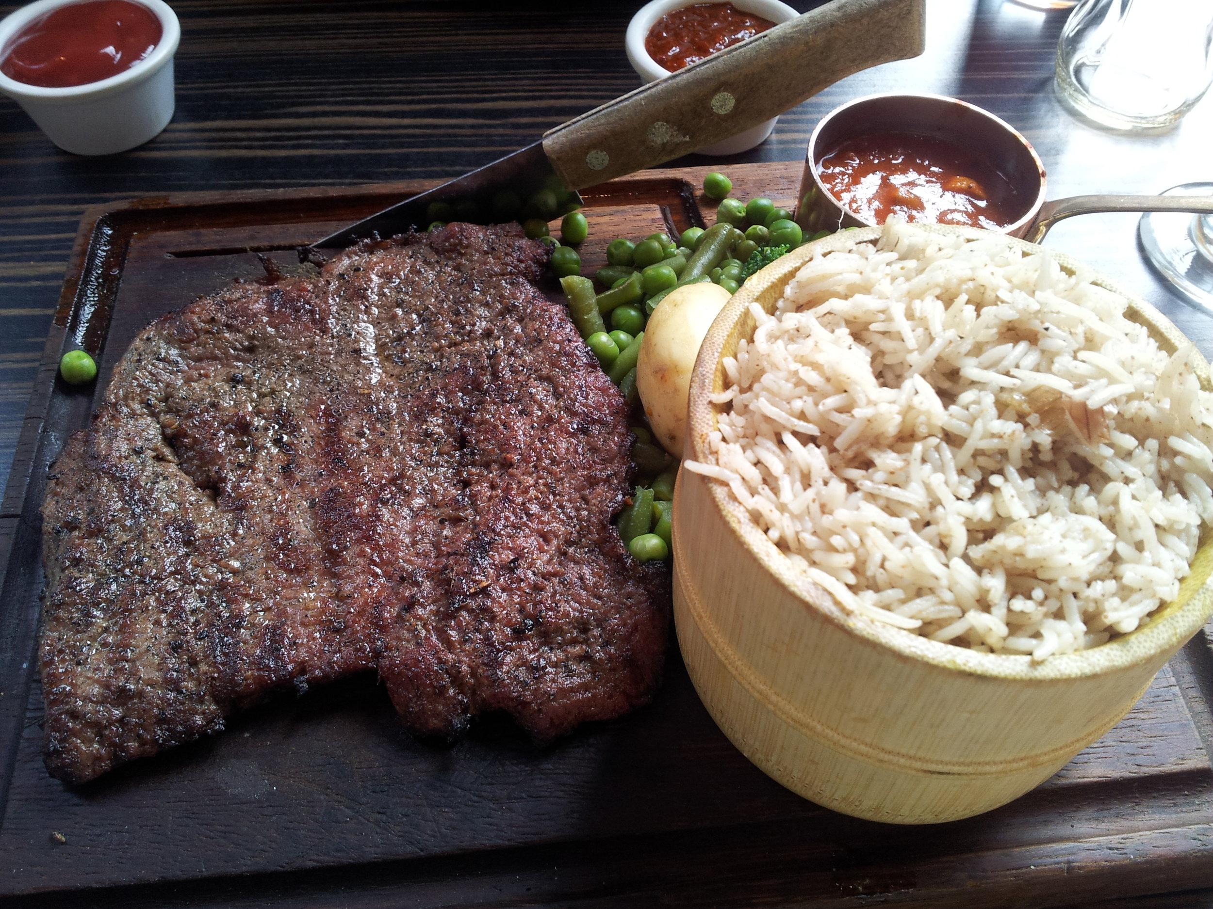 Halal Steak at Zouk Manchester