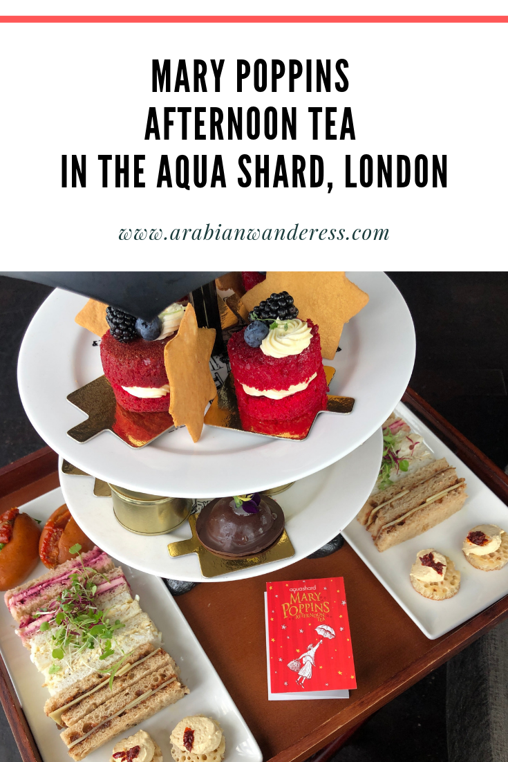 Mary Poppins Afternoon Tea in the Aqua Shard in London