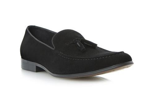 Dune Black Tassel Loafer Shoes