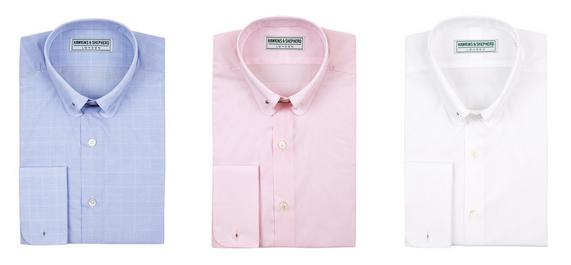Hawkins & Shepherd - Pin Collar Shirts