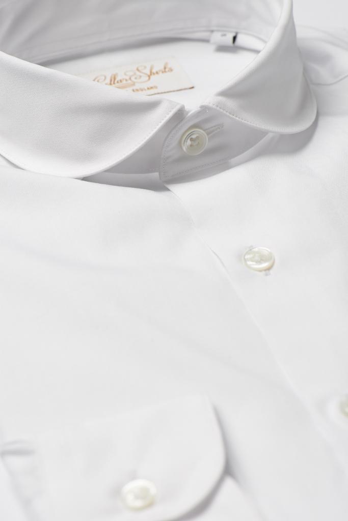 White Penny Cutaway Shirt