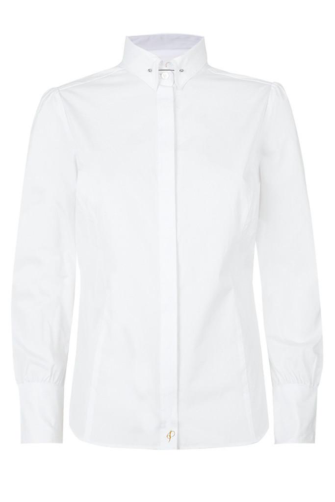 Woman's White Pin Collar Shirt