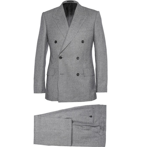 KINGSMAN - GREY DOUBLE-BREASTED PRINCE OF WALES CHECK SUIT