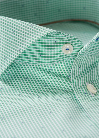 Eton Green Check Dotted Shirt