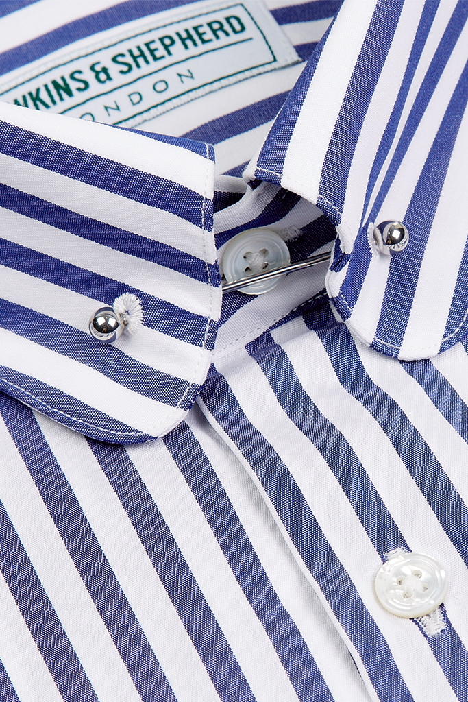 Hawkins & Shepherd Navy Stripe Shirt
