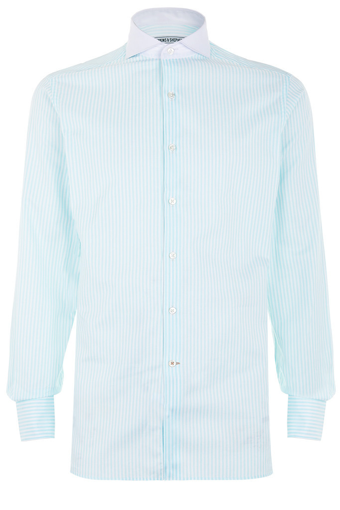 Hawkins & Shepherd Mint Green Stripe Shirt