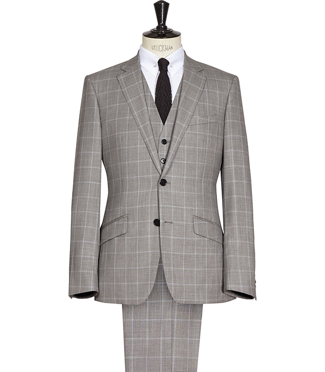 Grey Window Pane Suit