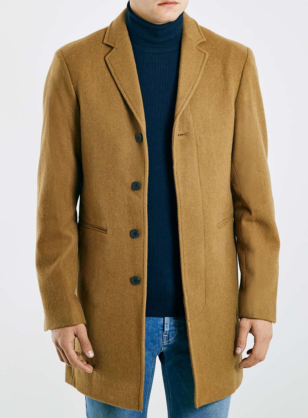 Topman Wool Camel Coat