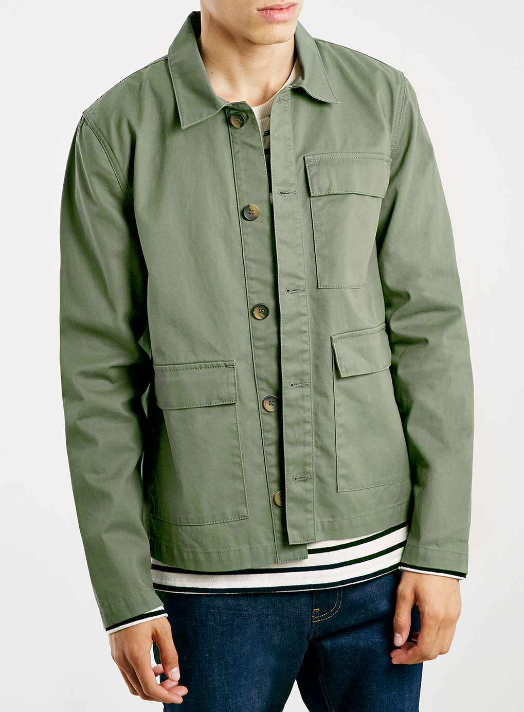Topman Green Utility Jacket