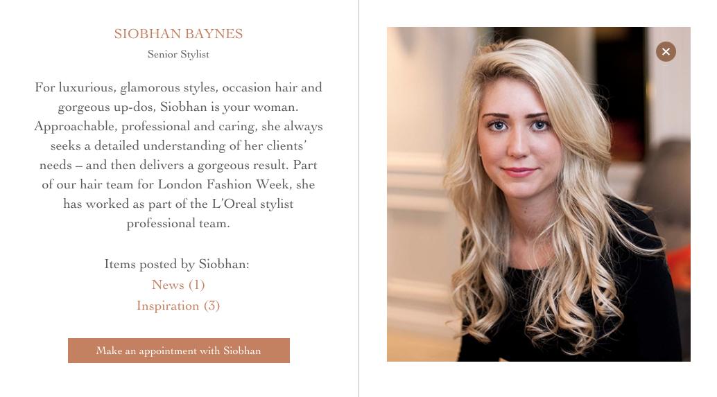 Paul Edmonds - Senior Stylist - Siobhan Baynes