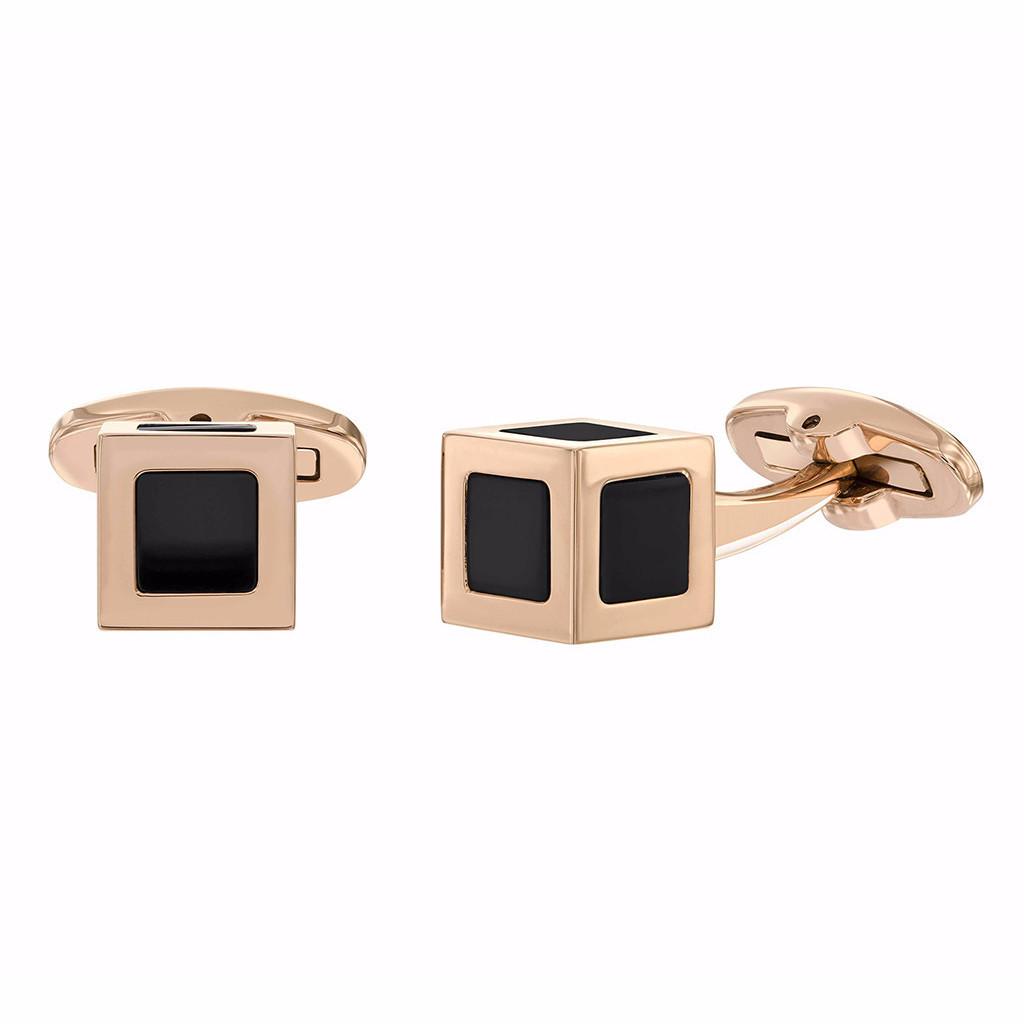 Tresor Paris Rose Gold Cuff Links