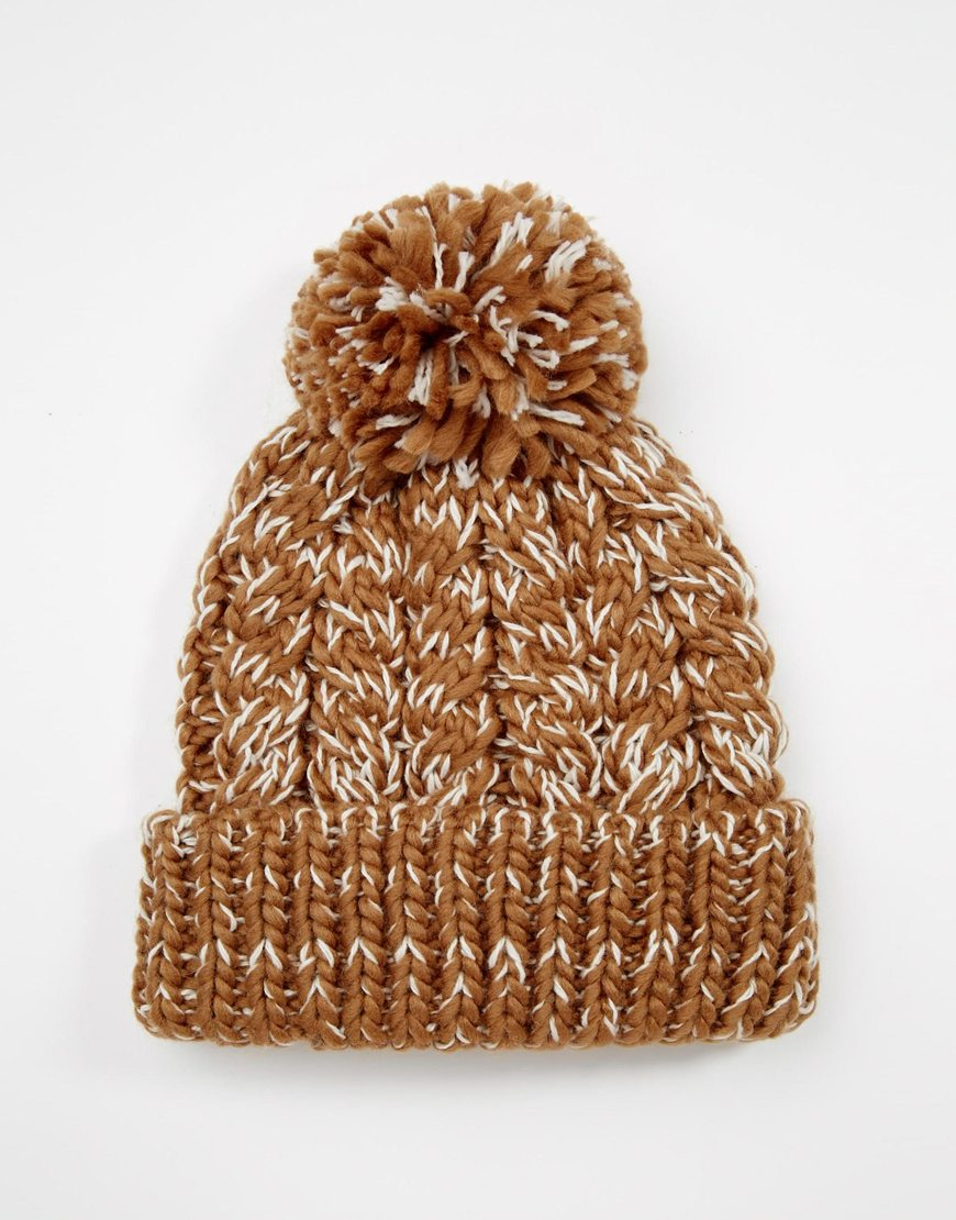 Camel Bobble Hat