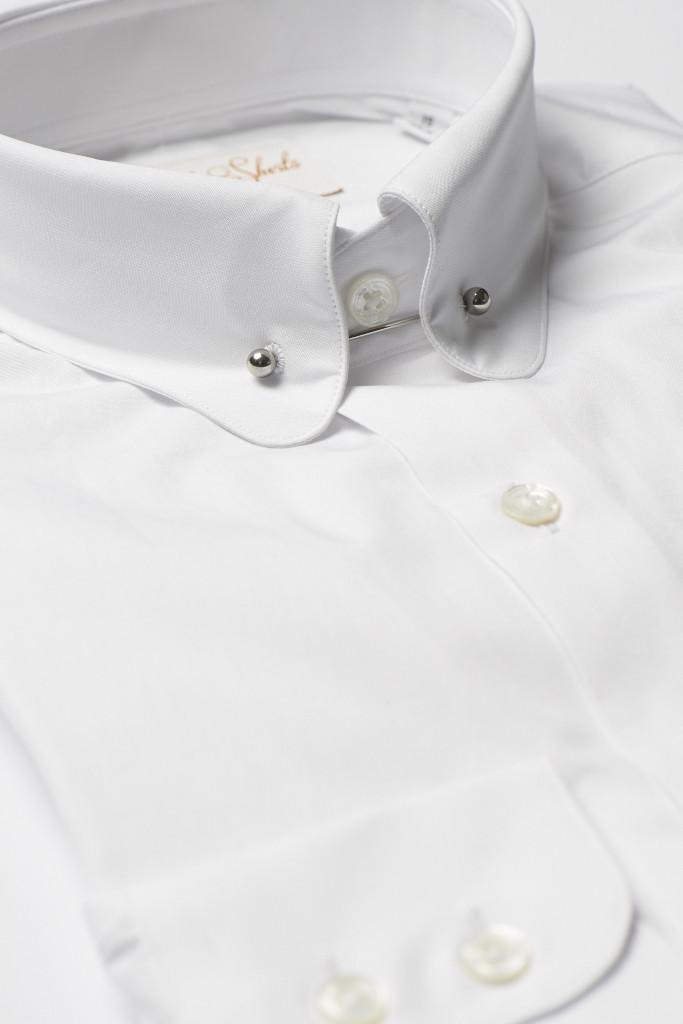White Pin Collar Shirt