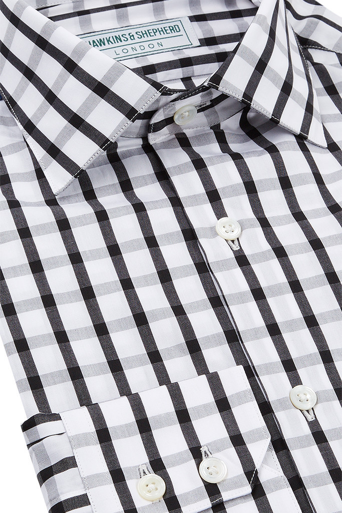 Black and White checked Shirt