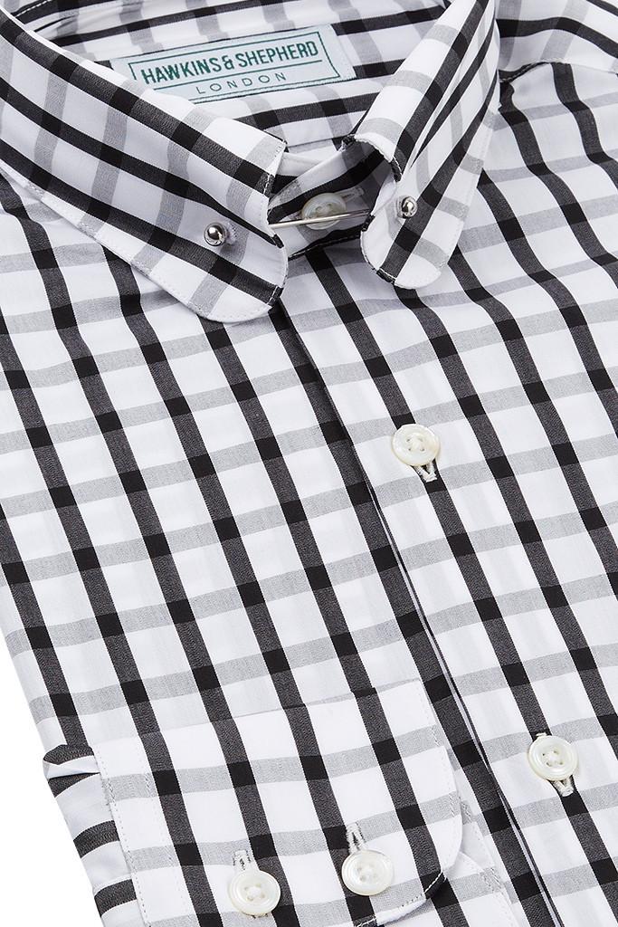 Monochrome Pin Collar Shirt