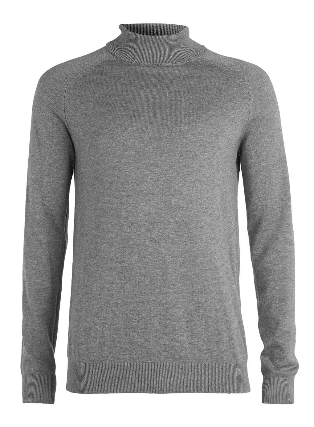 Topman Grey Roll Neck Jumper