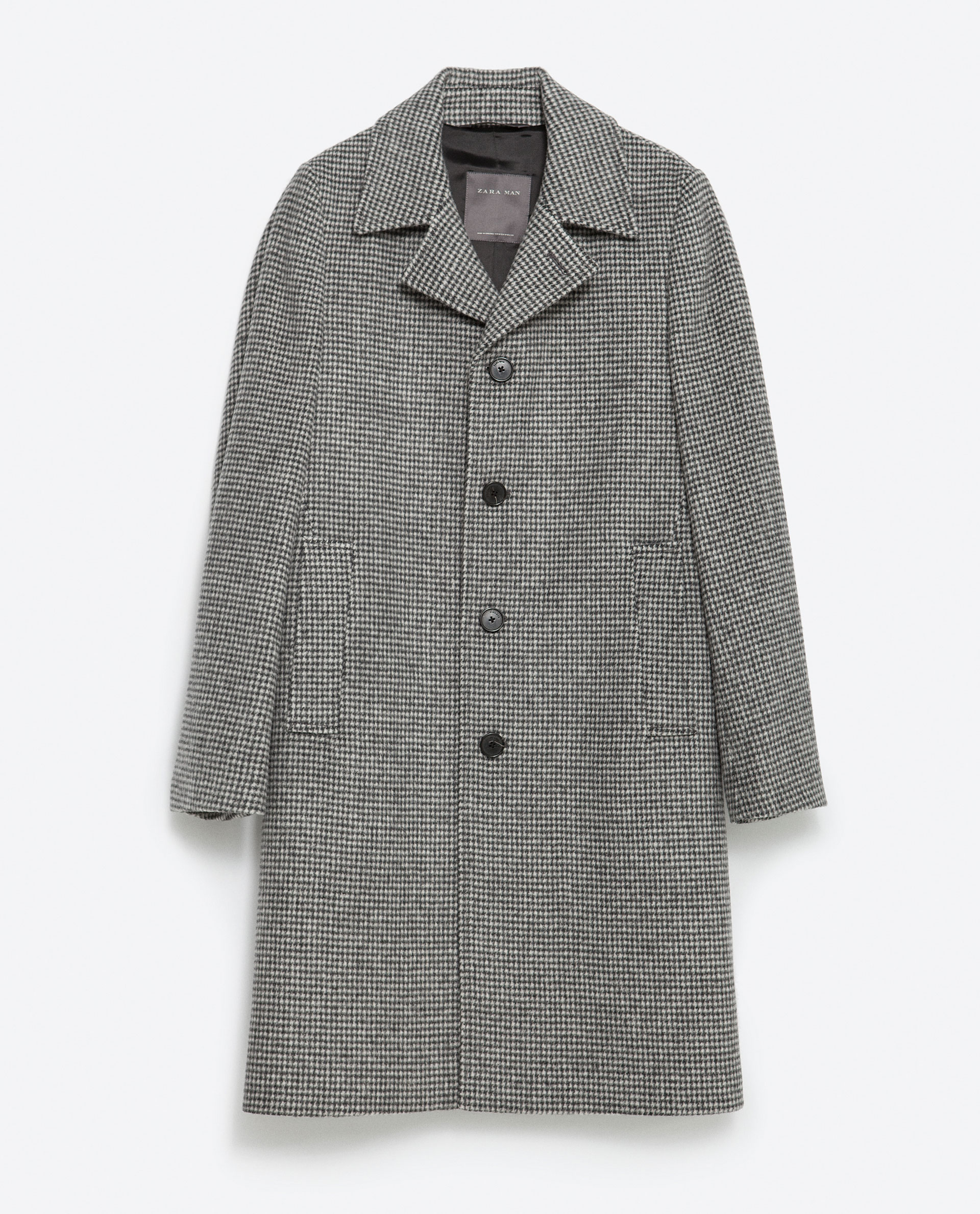 Zara Houndstooth Coat