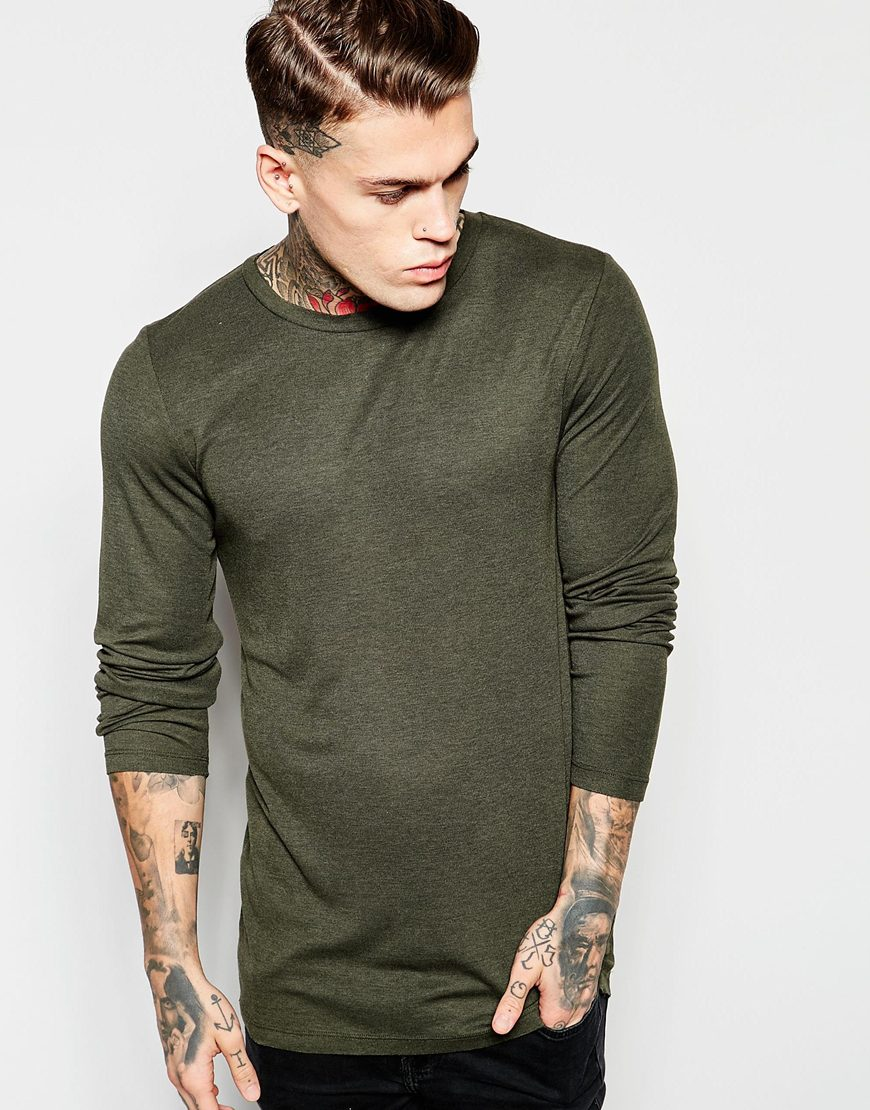 Green Long Sleeved T-Shirt