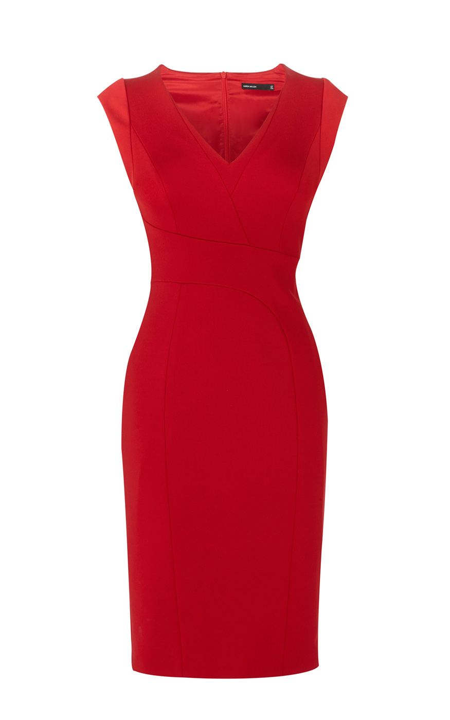 Karen Millen V-neck Pencil Dress