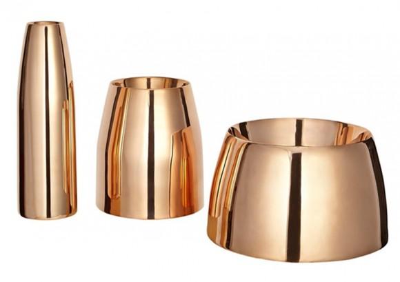 Tom Dixon Copper Vase Trio