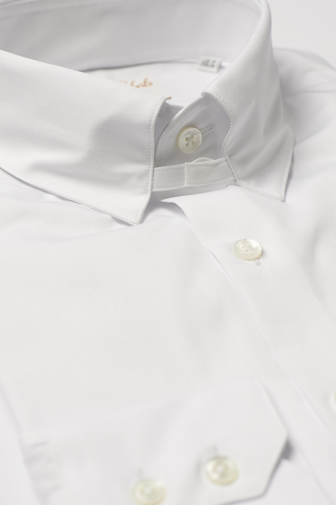 White Tab Collar Shirt