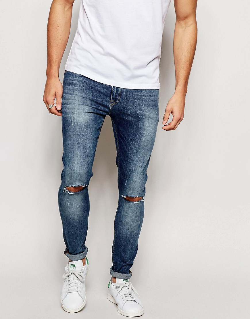 ASOS Blue Ripped Jeans