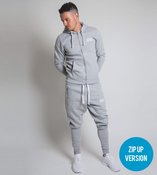 Fitted Grey Tracksuit