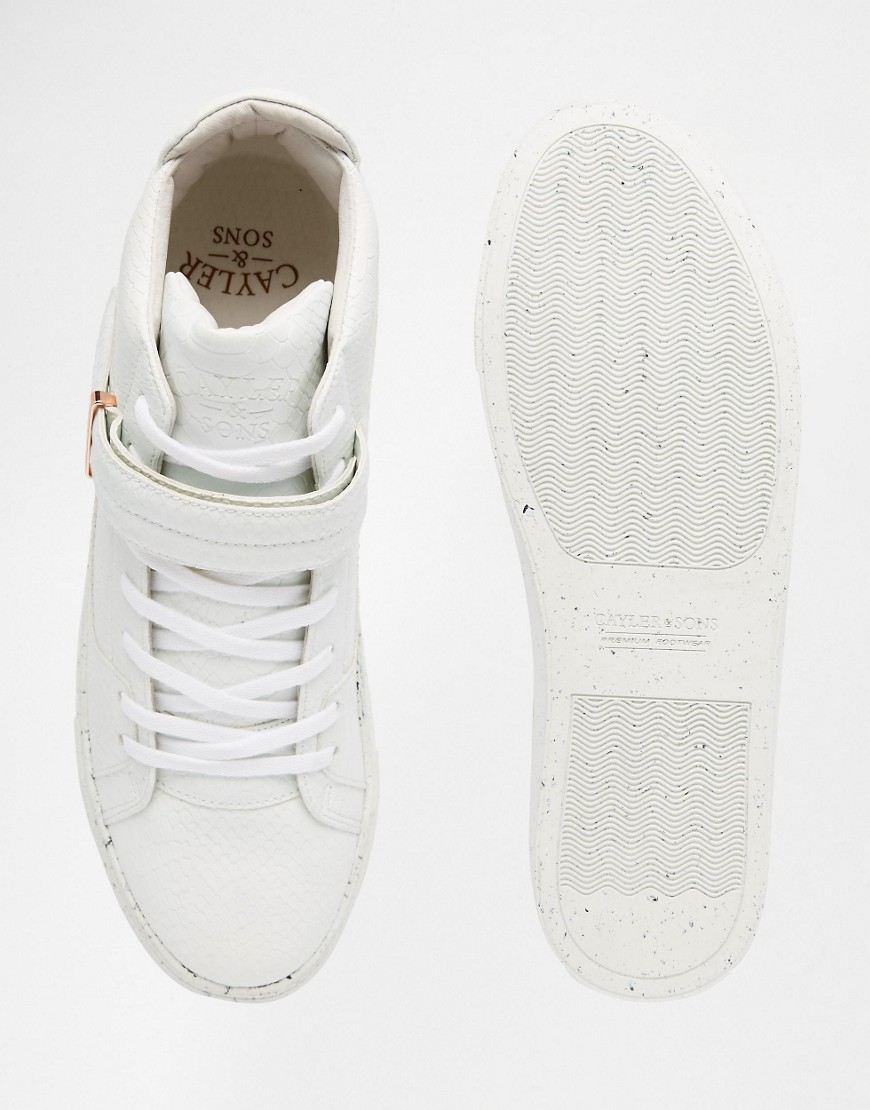 White and Copper Mens Trainers