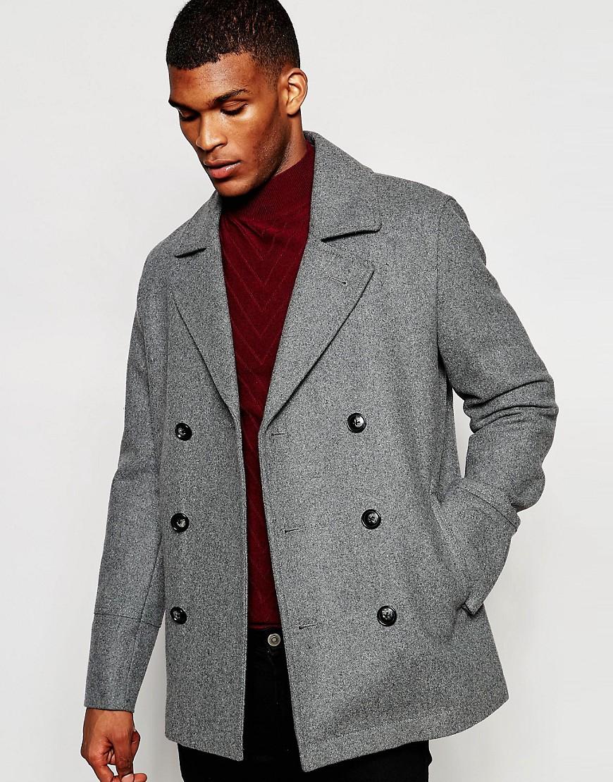 ASOS Grey Pea Coat