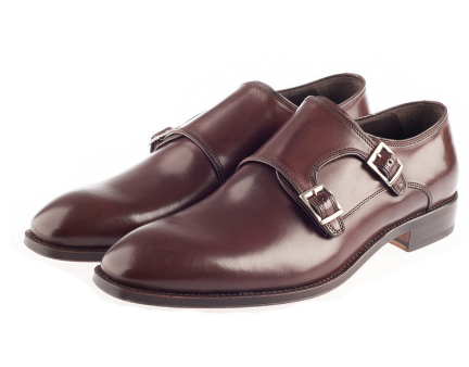 Brown Monk Strap Shoes