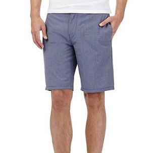 Blue Light Cotton Shorts