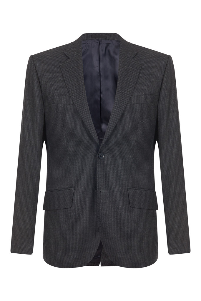 Mens Grey Dogstooth Suit