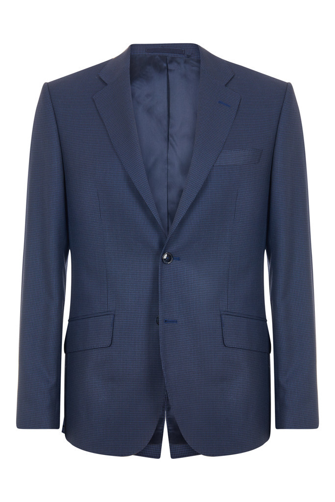 Navy Dogstooth Suit