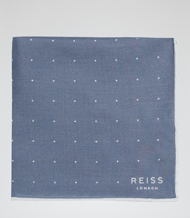 Blue Polka Pocket Square