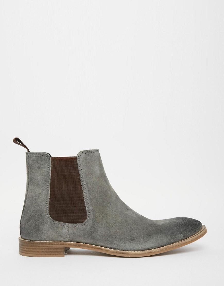 Grey Chelsea Boots