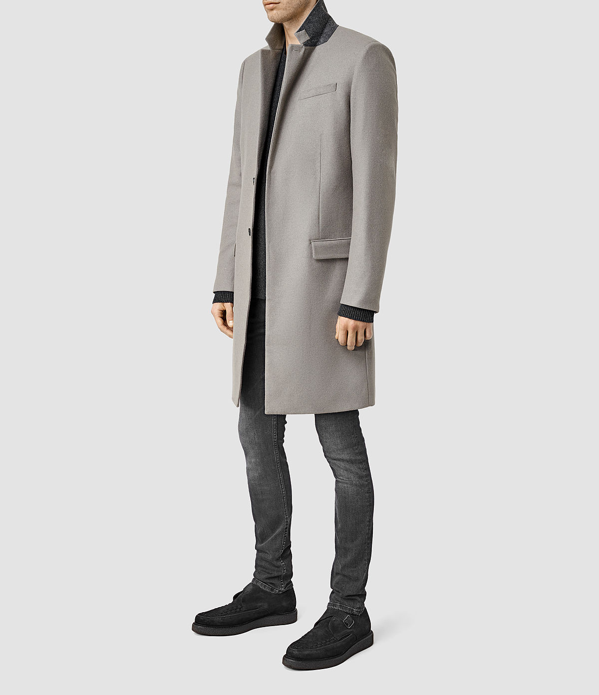 Grey Overcoat by Allsaints