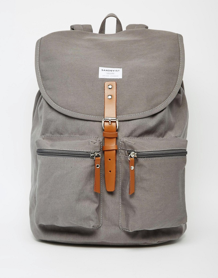 ASOS Sandqvist Grey Backpack