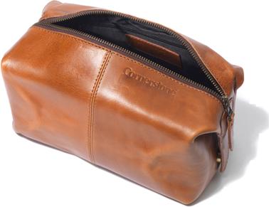 Cornerstone Leather Wash Bag