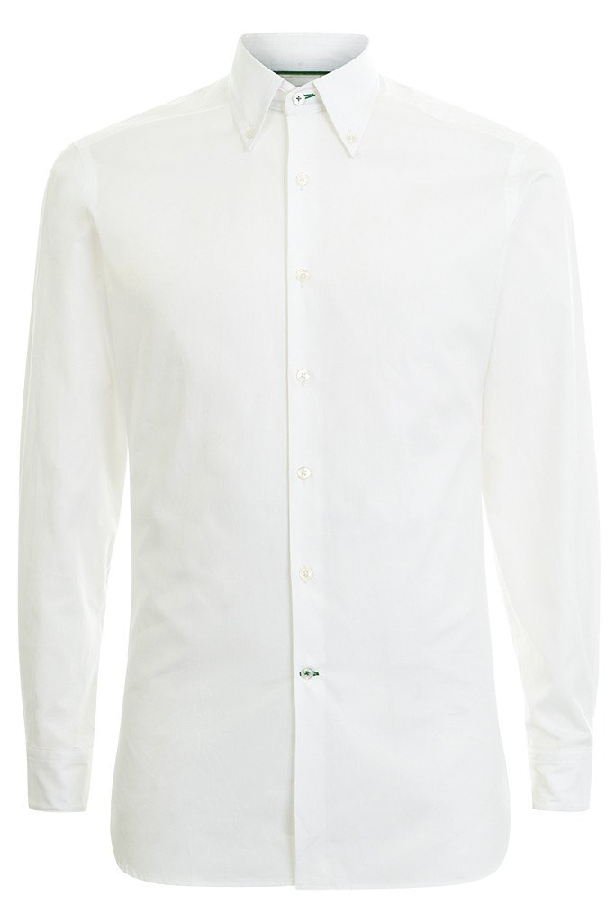 Mens White button-Down Shirt