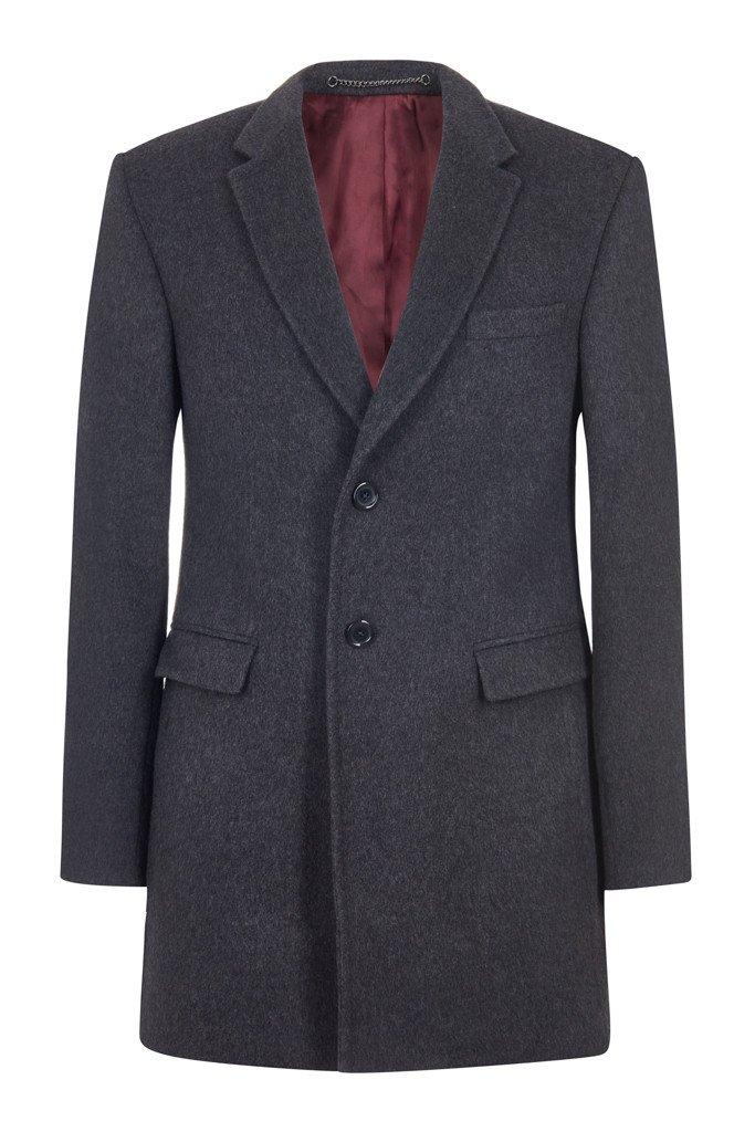 Hawkins & Shepherd Grey Cashmere Overcoat