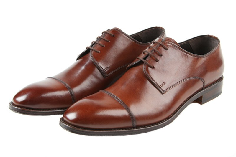 Brown Toe Cap Shoes