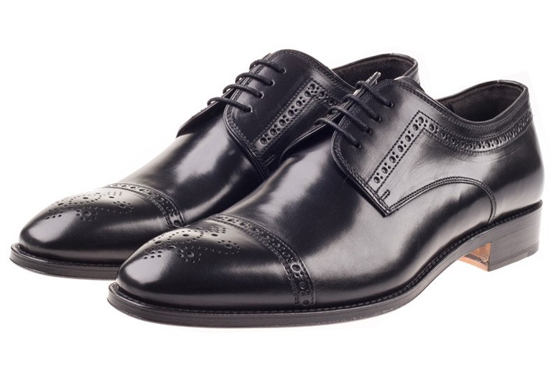Black Semi-Brogue Shoes