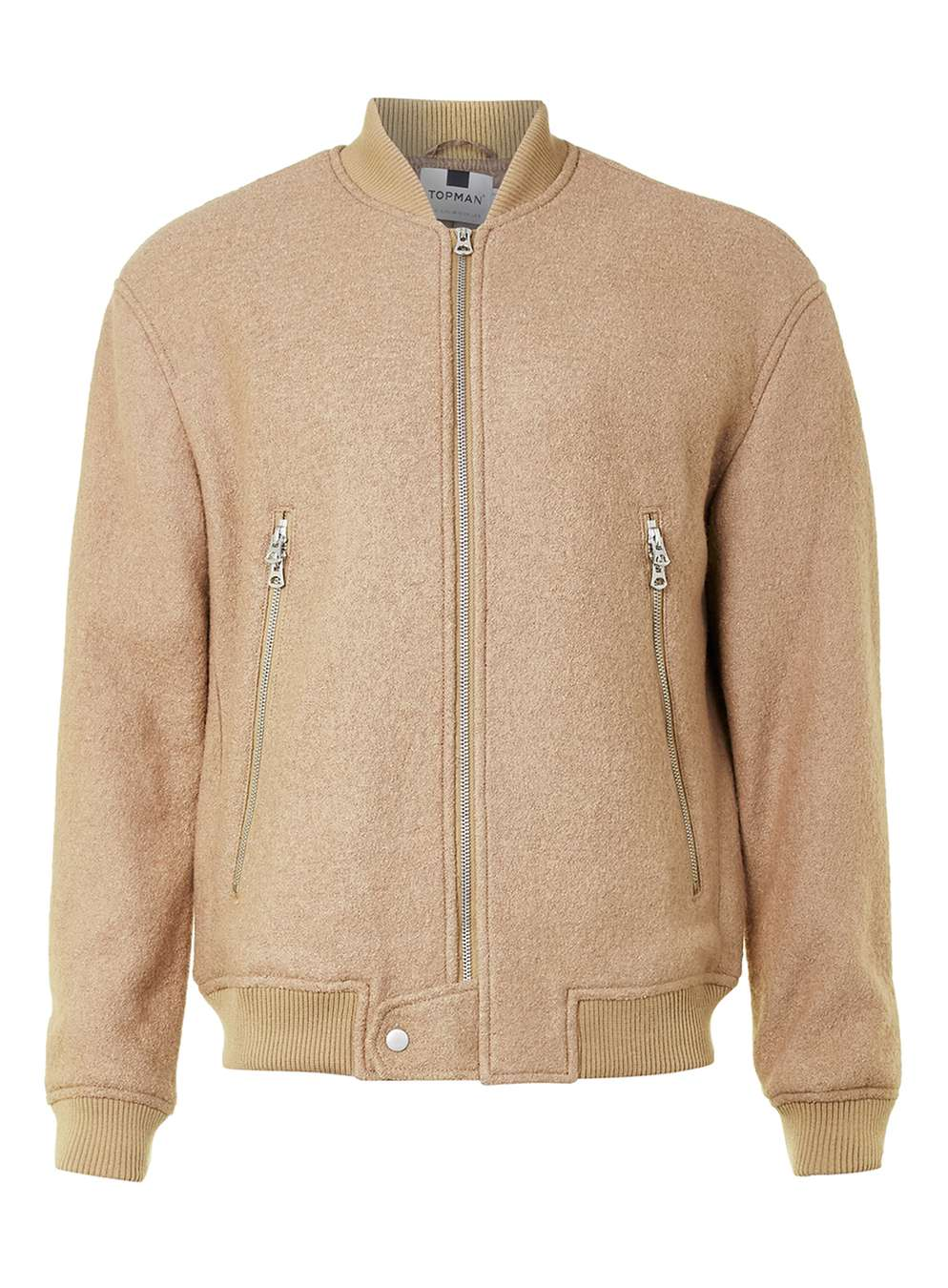 Camel Bomber Jacket