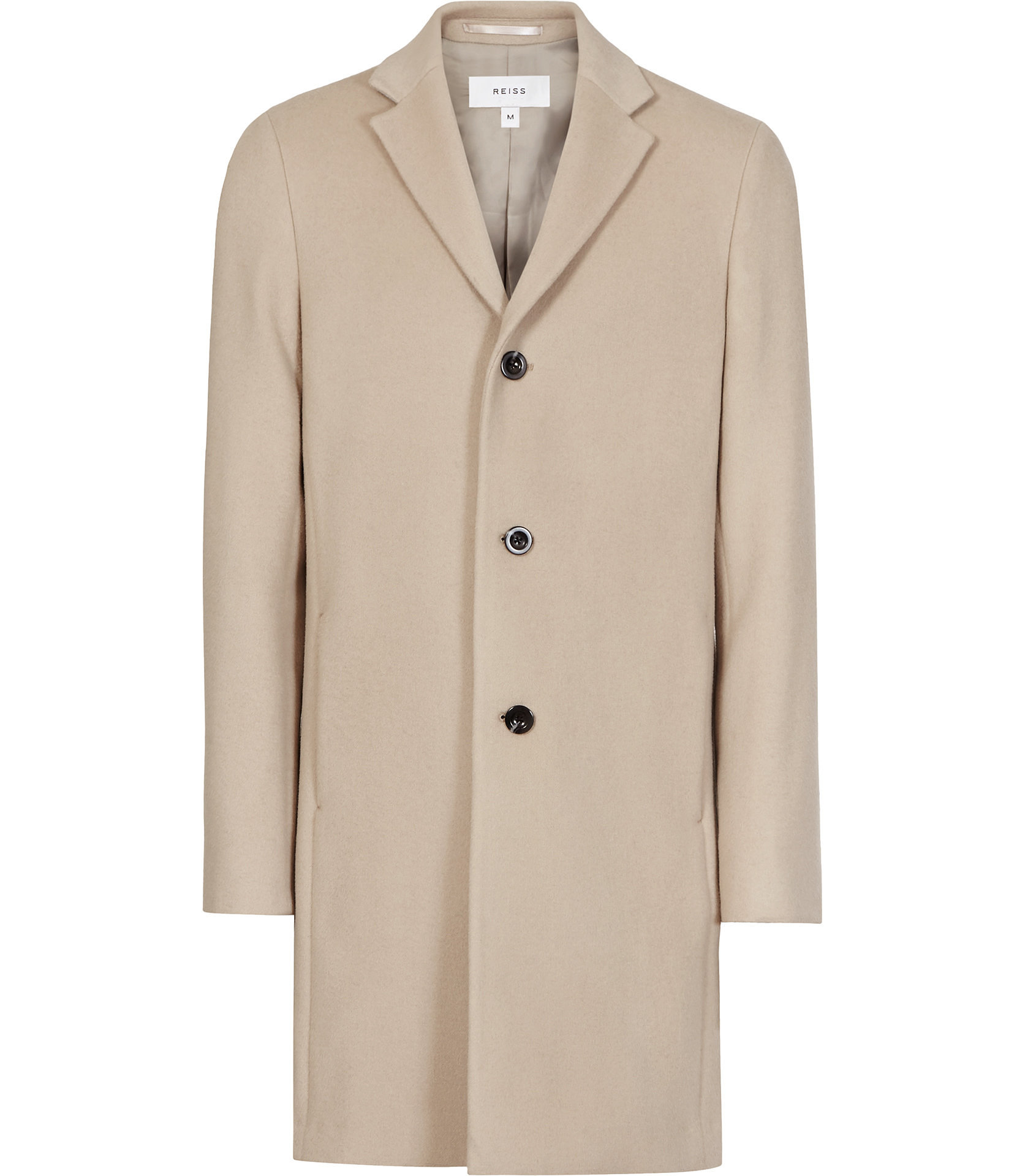 Reiss Beige Overcoat