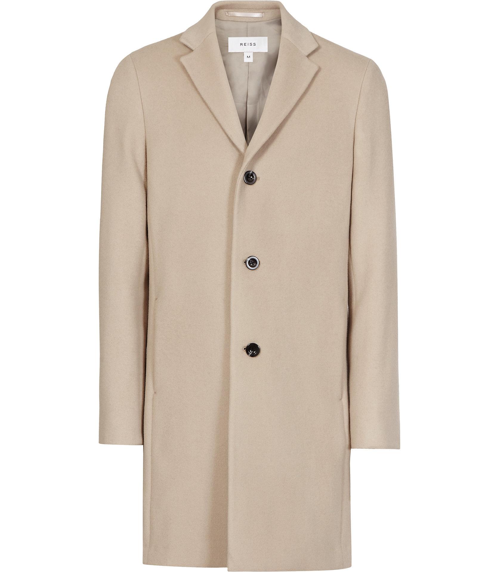 Reiss Beige Overcoat